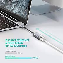 Внешняя сетевая карта / Сетевой адаптер USB 3.0 Gigabit Ethernet LAN RJ45 Ugreen 50922 (10/100/1000Mbps), фото 3