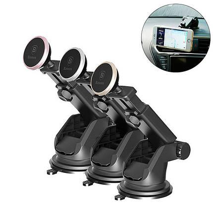 Магнитный автомобильный телескопический держатель для смартфона Baseus Mechanical Era Car Mount, фото 2