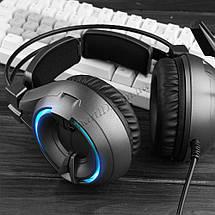 Игровые наушники Senicc A6 со светодиодной подсветкой и внешним микрофоном, фото 3