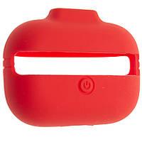 Чехол силиконовый Aare с ремешками для наушников AirPods Pro Красный 00007697, КОД: 1536404