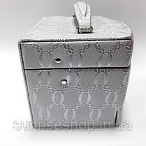 Шкатулка для украшений серебро кожзаменитель купить оптом, фото 2