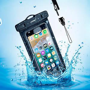 Защитный водонепроницаемый чехол Ugreen для телефона и документов (Черный)