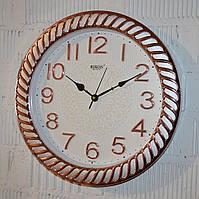 """Часы настенные """"Rikon RK38"""" silver rose gold white (40 см.), фото 1"""