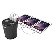 Автомобильное зарядное устройство Orico c 3 USB и 2 разъёма для прикуривателя MP-3U2S (Черное), фото 2