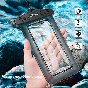 Чехол водонепроницаемый Getihu Waterproof для мобильных телефонов или документов (Черный)