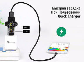 Кабель USB Type-C Ugreen US141 для зарядки и передачи данных (Черный, 1м), фото 2