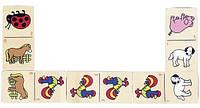 Настольная игра Goki Домино с животными WG090G, КОД: 2438500