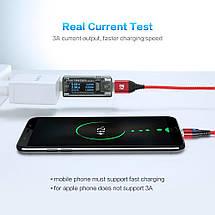 Магнитный кабель Lightning Floveme для зарядки iPhone/iPad/iPod (Черный, 1м), фото 3