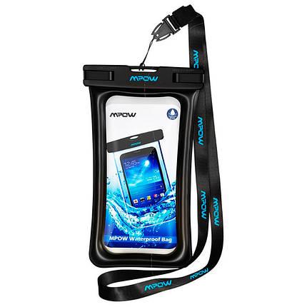 Чехол водонепроницаемый Mpow Floating Waterproof Case для мобильных телефонов или документов (Черный), фото 2