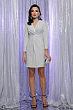 Вечернее платье на запах белый серебро Нила, фото 3