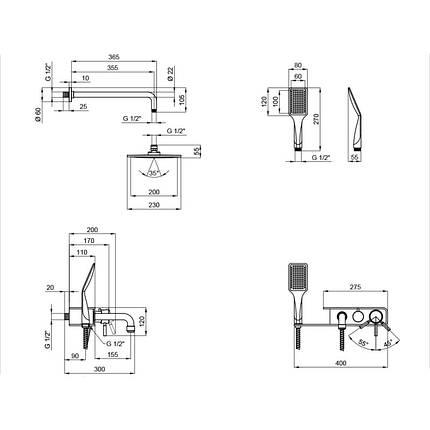 Душова система Q-tap BLA 1111, фото 2