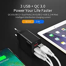 Универсальное сетевое зарядное устройство Essager Quick Charge 3.0 Qualcomm ECCQC-LL01 (Черное), фото 2