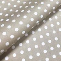 Бязь х/б для постельного белья напечатанная ГОРОХ БЕЖЕВЫЙ