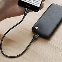 Кабель USB Type-C Baseus с подсветкой для зарядки и передачи данных (Черный, 0.25м), фото 3
