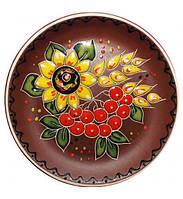 Тарелка десертная ST Добра глина Калина d 19.5 см Коричневый ST-531042psg, КОД: 172164