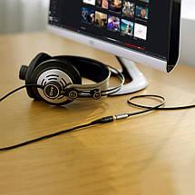 AUX 3.5mm удлинитель Ugreen AV118 аудио кабель (Чёрный с серебристым, 0.5м), фото 2