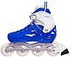 Ролики раздвижные Zelart (34-37р) Z096М синие, фото 3