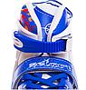 Ролики раздвижные Zelart (34-37р) Z096М синие, фото 8