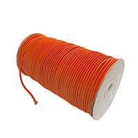 Шнурок-резинка круглый Luxyart 3 мм 500 м Оранжевый Р3-6, КОД: 1675812
