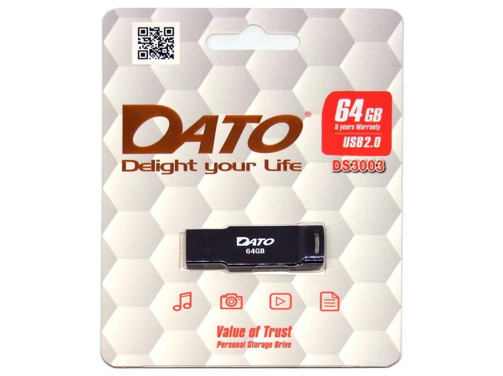 USB флеш накопитель Dato 64GB DS3003 black USB 2.0 (DS3003B-64G)