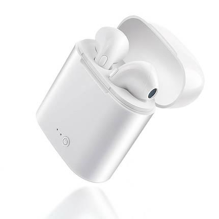 Беспроводные Bluetooth наушники iONCT i7s со встроенным микрофоном (Белые), фото 2