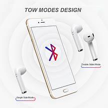 Беспроводные Bluetooth наушники iONCT i7s со встроенным микрофоном (Белые), фото 3