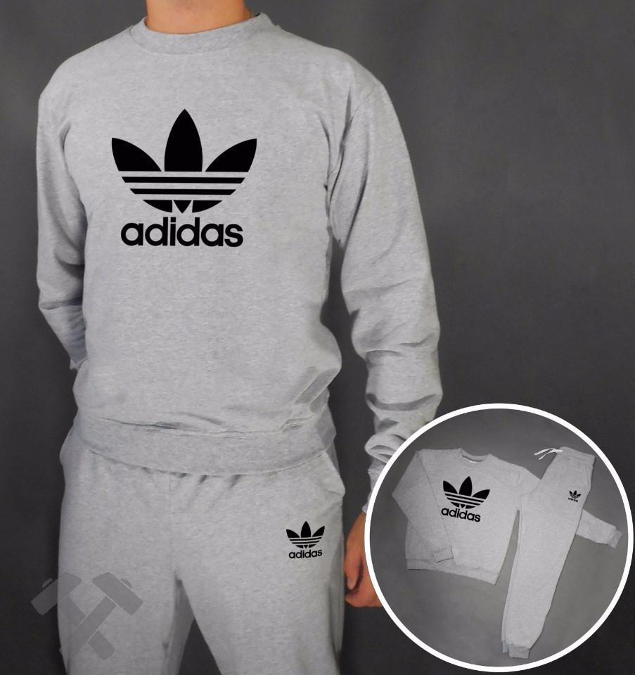 Мужской спортивный костюм Adidas, Адидас, серо-черный (в стиле)