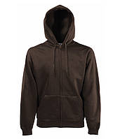 Толстовка Fruit of the Loom Premium hooded sweat jacket S Шоколадный 0620340CQS, КОД: 1574305