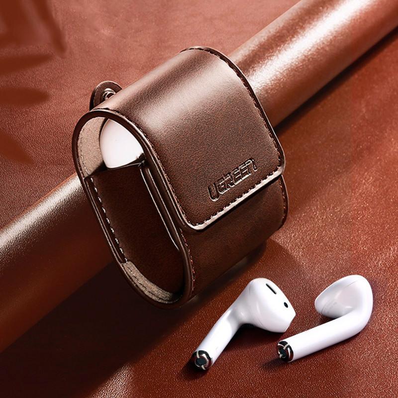 Кожаный кейс-чехол для наушников AirPods Ugreen Case Cover for Apple AirPods LP170 60516 (Коричневый)