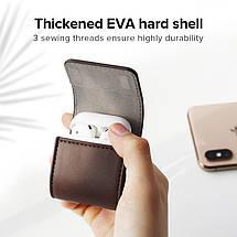 Кожаный кейс-чехол для наушников AirPods Ugreen Case Cover for Apple AirPods LP170 60516 (Коричневый), фото 3