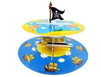 """Стенд, подставка для капкейков, кексов, сладостей """"Добрый пират"""""""