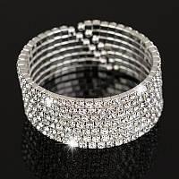 Красивый недорогой женский браслет с камнями.