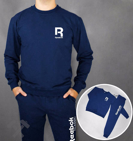 Мужской спортивный костюм Reebok, Рибок, темно-синий (в стиле), фото 2