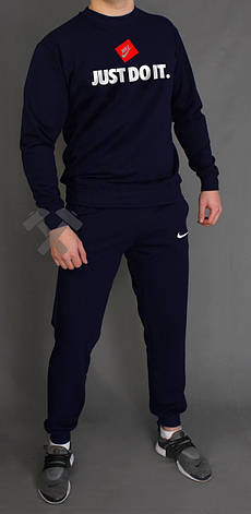Чоловічий спортивний костюм Nike, Найк, темно-синій (в стилі), фото 2