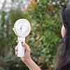 Портативный ручной вентилятор Hoco F11 с функцией павербанка и подставкой, фото 4
