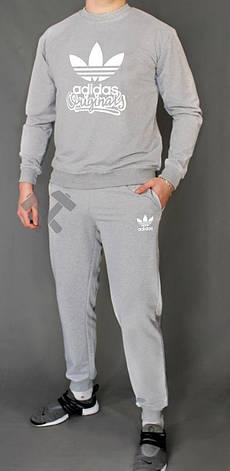 Мужской спортивный костюм Adidas, Адидас, серый (в стиле), фото 2