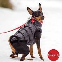Жилет для собаки утепленный DIEGO sport  3/2 серый, размер 3