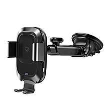Автодержатель для телефона с беспроводной зарядкой Baseus Smart Vehicle Bracket Sucker style WXZN-B01 (Черный), фото 2