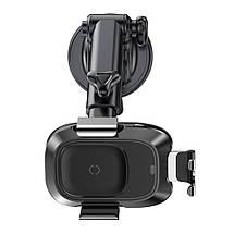 Автодержатель для телефона с беспроводной зарядкой Baseus Smart Vehicle Bracket Sucker style WXZN-B01 (Черный), фото 3