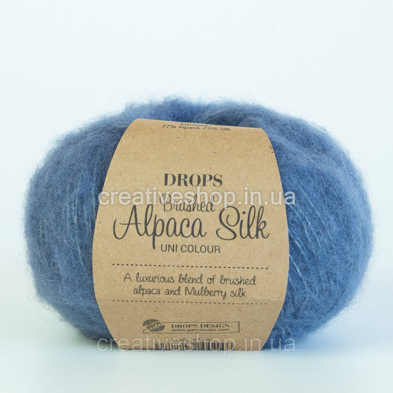 Пряжа Drops Brushed Alpaca Silk (цвет 13 denim blue)
