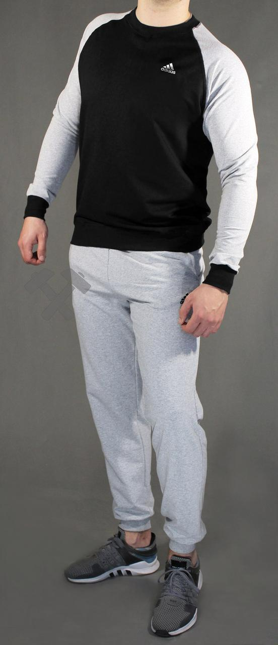 Чоловічий спортивний костюм Adidas, Адідас, сіро-чорний (стилі)