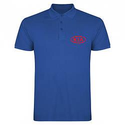 Поло Киа (Kia) мужское, тенниска Киа, мужская футболка Киа, Турецкий хлопок, копия