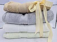 Банные полотенца из микрокоттона Новогодняя пастель