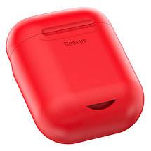 Силиконовый чехол с беспроводной зарядкой для зарядного кейса AirPods Baseus Wireless Charger, фото 3