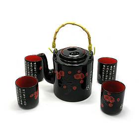 Сервиз керамический чайник 4 чашки DN27901, КОД: 1534020