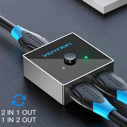 Двунаправленный переключатель HDMI 2.0 Vention AFLH0 (Черный), фото 2