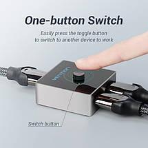 Двунаправленный переключатель HDMI 2.0 Vention AFLH0 (Черный), фото 3