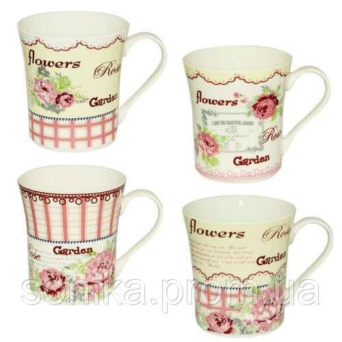 """Чашка керамічна S&T """"Ніжні квіти""""  300мл 2195-01"""