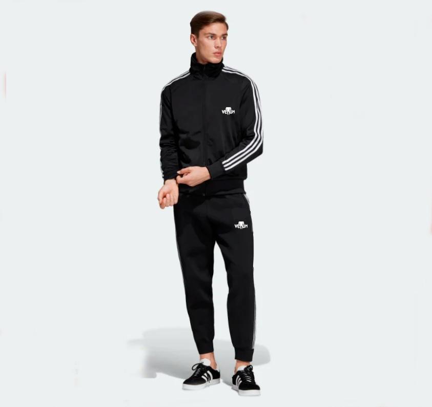 Мужской спортивный костюм Адидас, Adidas, черный (в стиле)