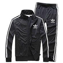Черный мужской спортивный костюм Adidas с лампасами (Адидас)  (в стиле)